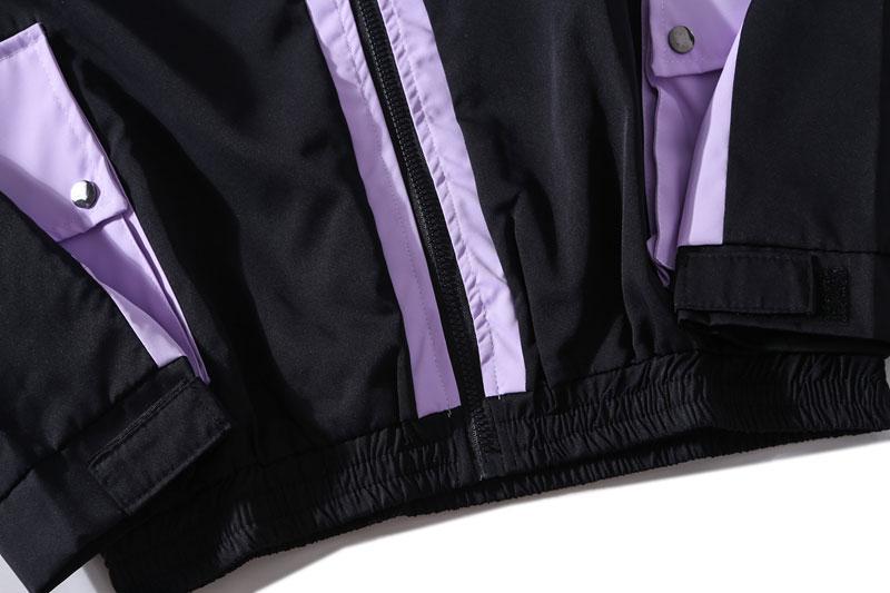 Side Pockets 3M Reflective Stripe Windbreaker Track Jackets 6