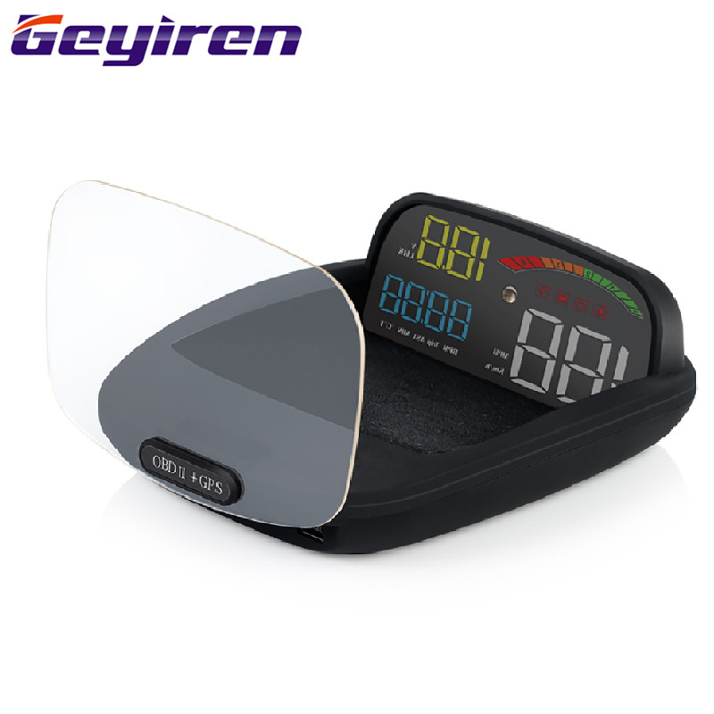 Intelligent HUD OBD Car Head up Display Motors Headup Display Wireless Speedometer Car Electronics Accessories C800