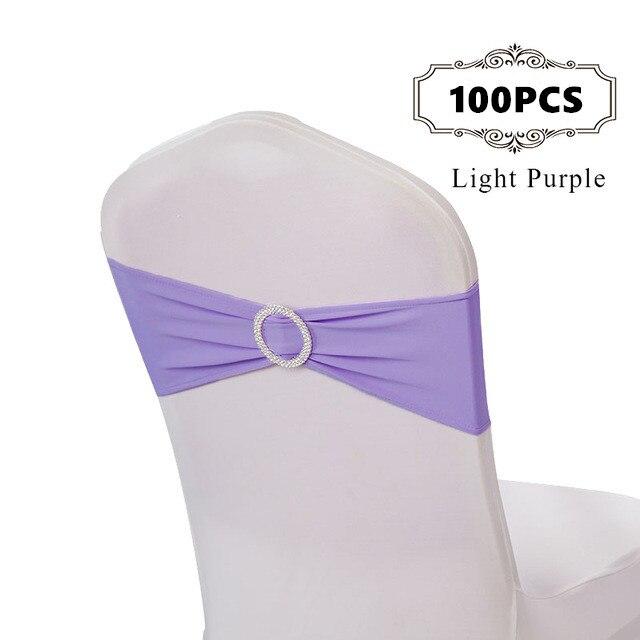100 PC/Pack Premire qualité solide couleur Polyester Spandex Lycra chaise bandes élastique chaise ceinture avec Blucke pour les arcs de décoration de mariage-in Ceintures from Maison & Animalerie    1