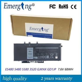 7.6V 68WH New Original  Laptop Battery for Dell Latitude 15 3520 E5480 5480 5580 3520 GJKNX GD1JP