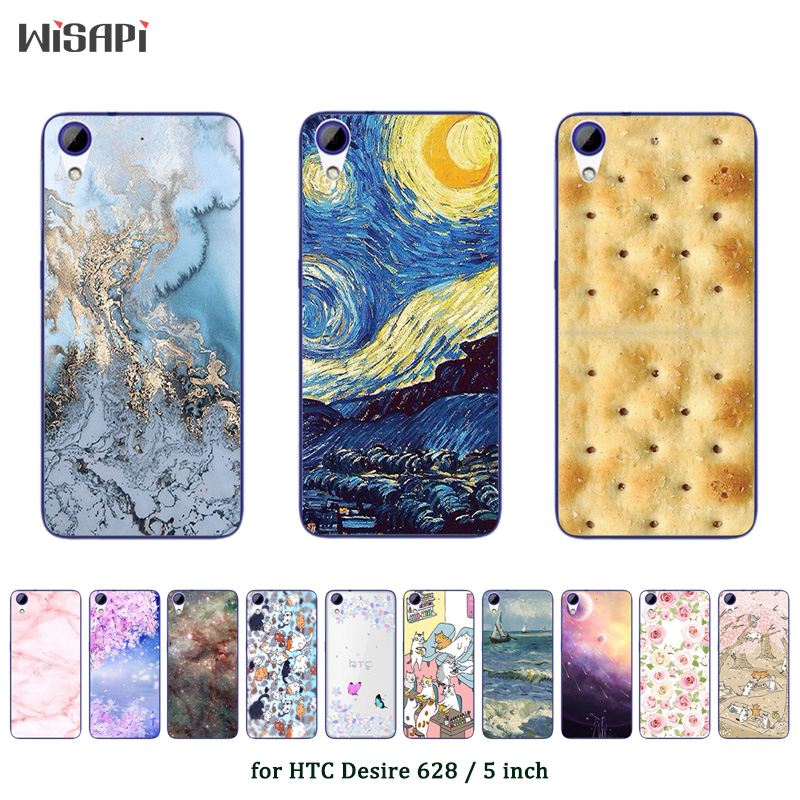 For HTC Desire 628 Gel Soft TPU Protective Case Fashion Printed Soft Silicone TPU Back Cover