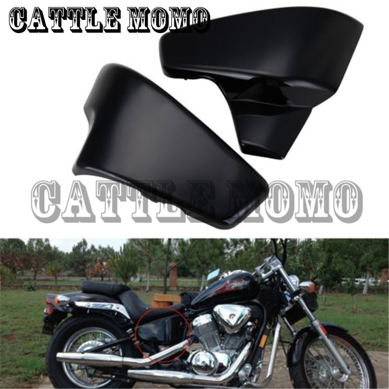 Motorcycle Battery Side Cover Abdeckung for Honda VT 600 Shadow VLX Deluxe Steed 400VLS Seitendeckel Batterie Side Faring Cover for 88 98 honda shadow vt600 vlx 600 steed 400 motorcycle abs plastic frame neck cover cowl wire covers side frame guard black