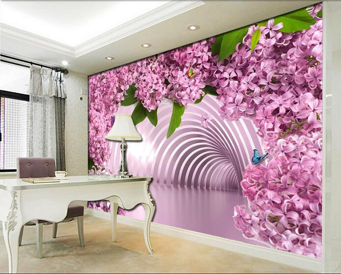 3d Wallpaper Custom Mural Non-woven 3d Room Wallpaper 3 D Space Is Pretty In Pink Recent  Painting Photo Wallpaper For Walls 3d