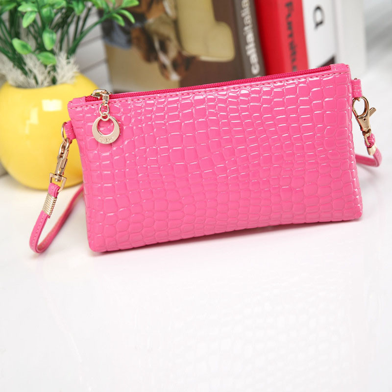 2017 Vogue High quality ladies fashoion bag Women Crocodile Leather Messenger Crossbody Clutch Shoulder Handbag A 16
