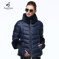 New Coats Down Winter Short Black Solid Female Parka Hooded Coat Winter Jacket Women 2016