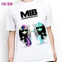 New Creative Men In Black T Shirt Classical Anime My Little Pony T Shirt Cartoon Twilight