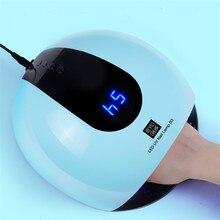 80W צבעוני UV LED מנורת Manucure 36 נוריות מכונת UV Ongle נייל מייבש קרח נגל מנורת שמש אור מהיר ריפוי כל ג ל לכה