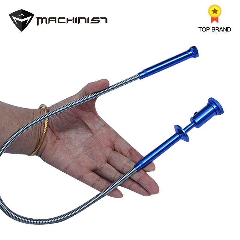 1 unid 62 cm con luz LED con fuerte magnético universal de cuatro-garra recogida pasar alcantarillado higiénico tomar- A coche herramienta de reparación
