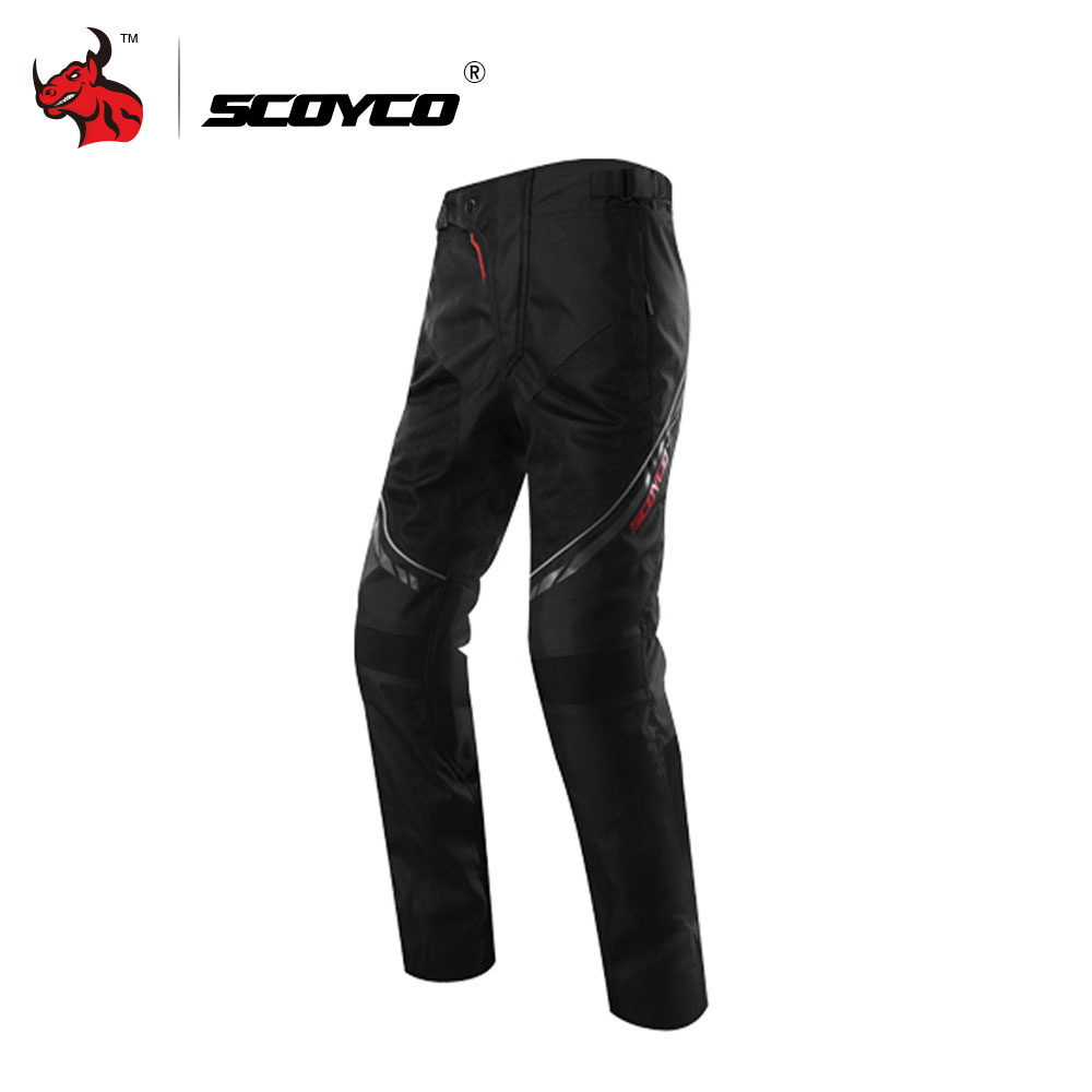 SCOYCO Motorcycle Pants Motocross Pants Enduro Riding Trousers Men's Off-Road Racing Pants Casual Pants With CE Kneepad M-XXXL scoyco mens motorcycle pants racing trousers winter summer p028