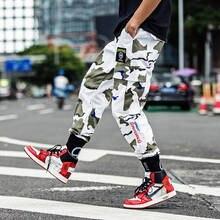 Man Jogger Camouflage Pants Loose Mens Sweatpants Fashion High Street Cargo Pants Streetwear Casual Pants Harajuku Hip Hop Pants цена 2017