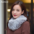 SCM064 Women's winter  warm fur scarf  real rabbit fur scarves  brand new genuine fur ring wraps