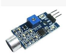 Бесплатная доставка Обнаружение звуковой Сенсор звуковой модуль Сенсор Интеллектуальный автомобиль на Arduino