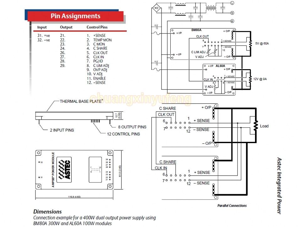 Aliexpress.com : Buy ASTEC Power module BM80A 300L 050F60 DC300V ...