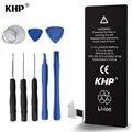 100% original khp teléfono móvil interna de li-ion baterías de reemplazo para el iphone 5s 5c 1560 mah real con kit de herramientas de reparación