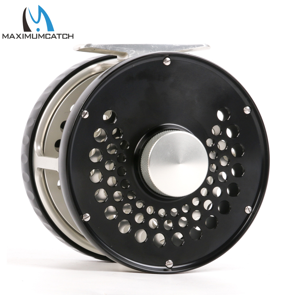 Maximumcatch Classic Fly Fishing Reel 7WT/8WT/9WT/10WT Clicker Disc Drag System CNC Machine Cut T6061 Aluminum Fly Reel шлифмашина угловая stanley stgl2223