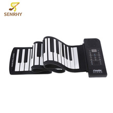 SENRHY Portable Soft Keys 61 Keyboard MIDI Roll Up Electronic Piano For Music Keyboard Instruments Lover Gift High Quality