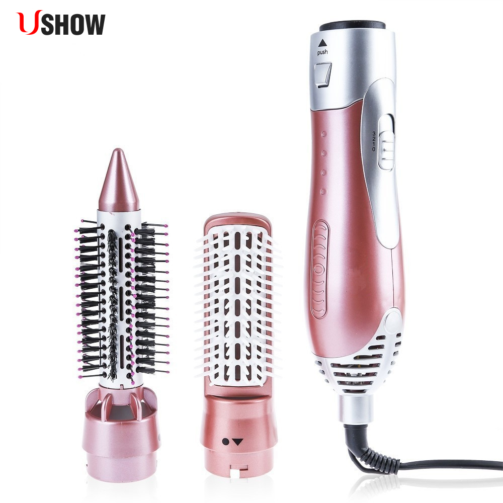 Professional Hair Curler Dryer Comb Curling Drying Function 2 in 1 Comb Multifunctional Styling Salon Tools Sets Hairdryer braun 3in1 multifunctional hair styling tool hairdryer hair curler hair dryer blow dryer comb brush hairbrush professional as720