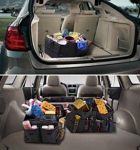 Image 3 - Organizer na fotel samochodowy wielofunkcyjny uchwyt do przechowywania worek uniwersalny składany schowek Tidying akcesoria do stylizacji wnętrza samochodu Trunk
