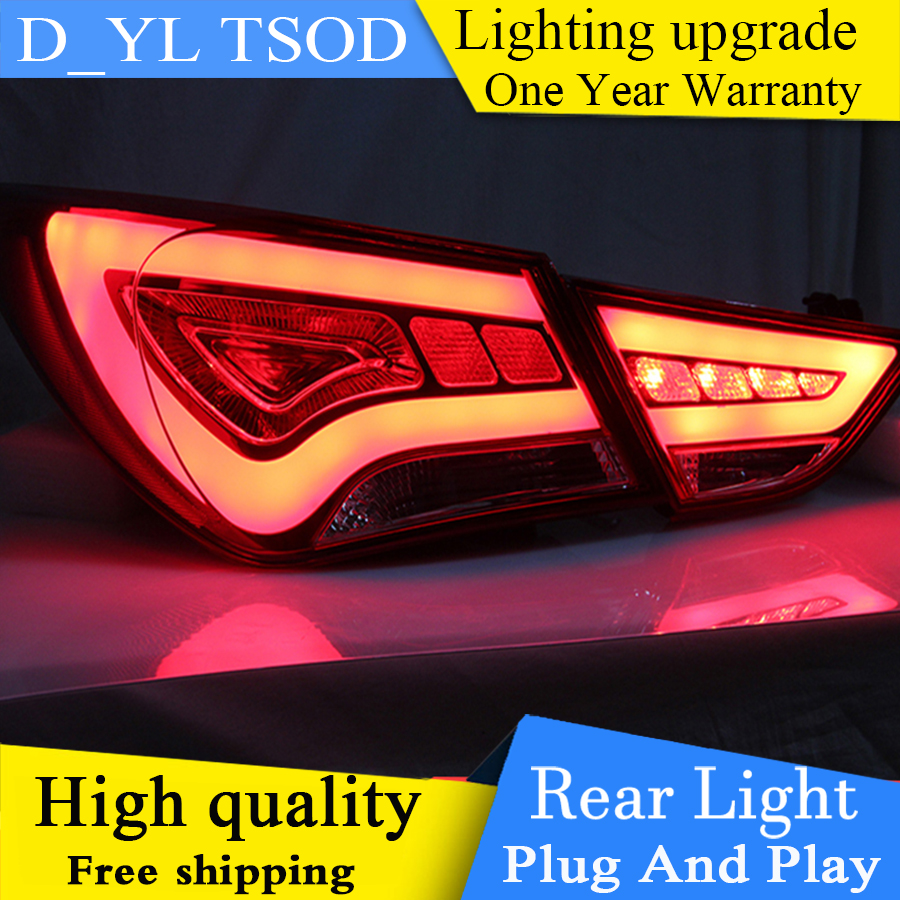 online shop car styling for hyundai sonata taillights 2014 2015 for sonata led tail lamp glk led rear lamp fog light for 1pair 4pcs aliexpress mobile [ 900 x 900 Pixel ]