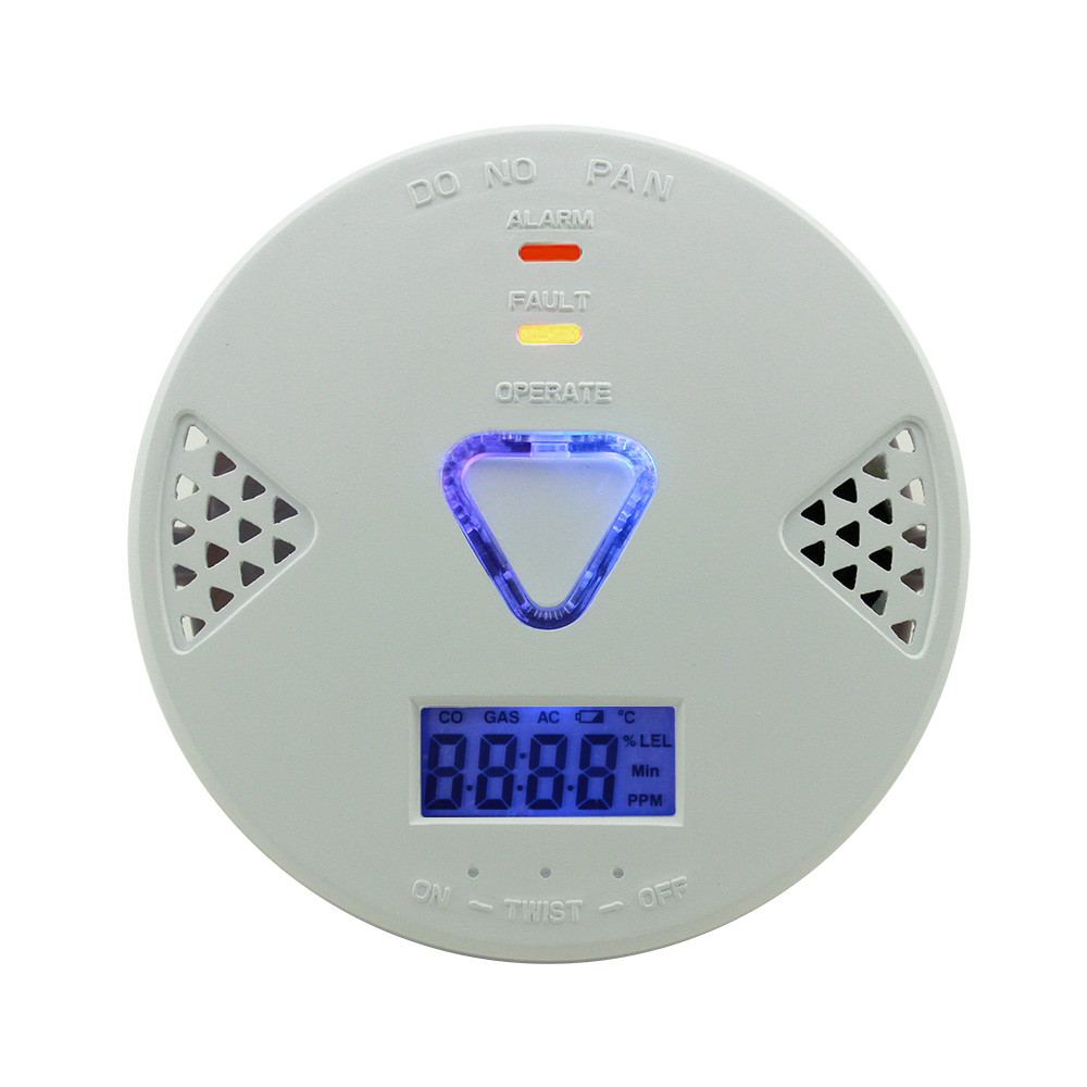 Home Security 85db Sound and light Warning LCD Photoelectric Independent CO Gas Sensor Carbon Monoxide Poisoning Alarm Detector
