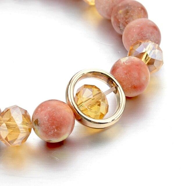 Chicvie подвески из природного камня браслет для женщин и девочек