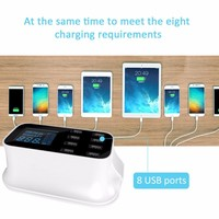 Universal Smart 8 Port USB Fast Phone Charger Power Adapter Desktop Charging Station US EU UK