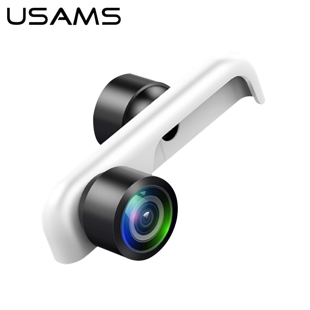 Original USAMS 360 Panoramic Camera Lens 2PCS Phone Lens For iPhone 6 6s 7 7 Plus 8 8 Plus webcam cover lente para celular