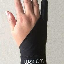 Черные противообрастающие перчатки с 1 пальцами wacom для рисования и рисования, цифровые перчатки для планшета оптом