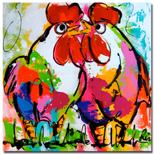 Modern Abstract Animal Painting Cock Oil Paintings On Canvas Wall Pictures For Home Decor Best Gift