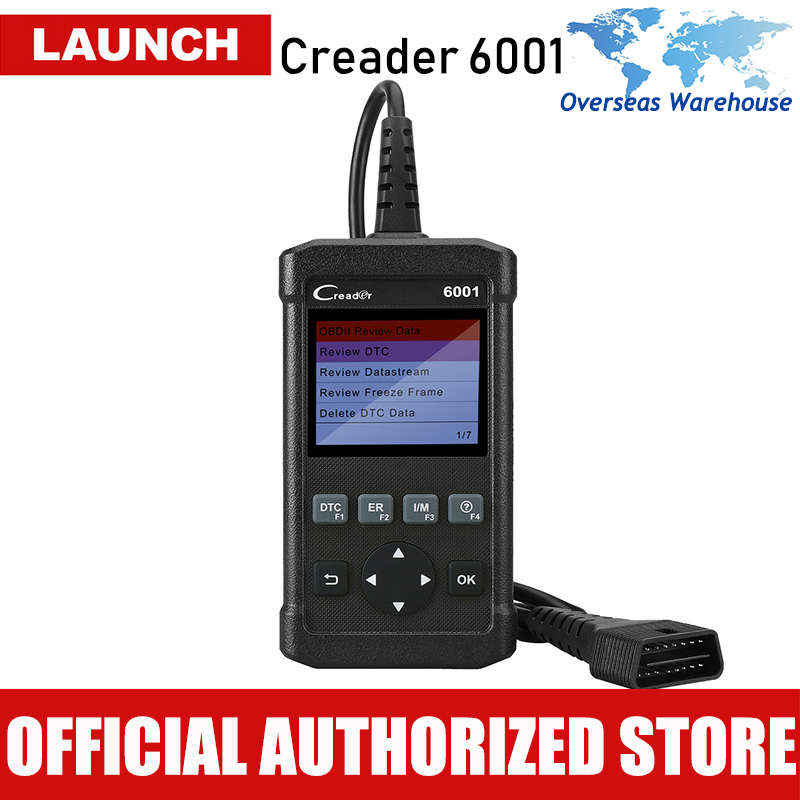 Scanner Auto Código de Falha Leitor lançamento Creader 6001 OBD2 2 Car Diagnóstico de Digitalização Ferramenta Autoscanner OBD Scaner Ferramentas CR6001