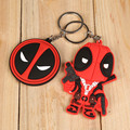 Super Q Style Cartoon Anime Keychain Deadpool Llavero PVC Keyring Super Hero Action Figure Key Charms Toy Pendant Christmas Gift