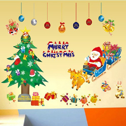1 set Christmas Decoration Father Christmas Deliver Presents and ...