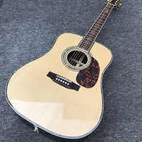 Factory custom 41 ''45 D 20 bünde perle inlay und bindung akustische gitarre mit gold-hardware, färbte shell rand freies verschiffen