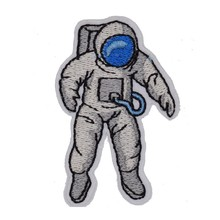 1Pcs Astronaut Spaceman Explorer Space Kid Baby Jacket T-shirt Patch Sew Iron on Embroidered Applique Sign Badge Costum Gift(China)