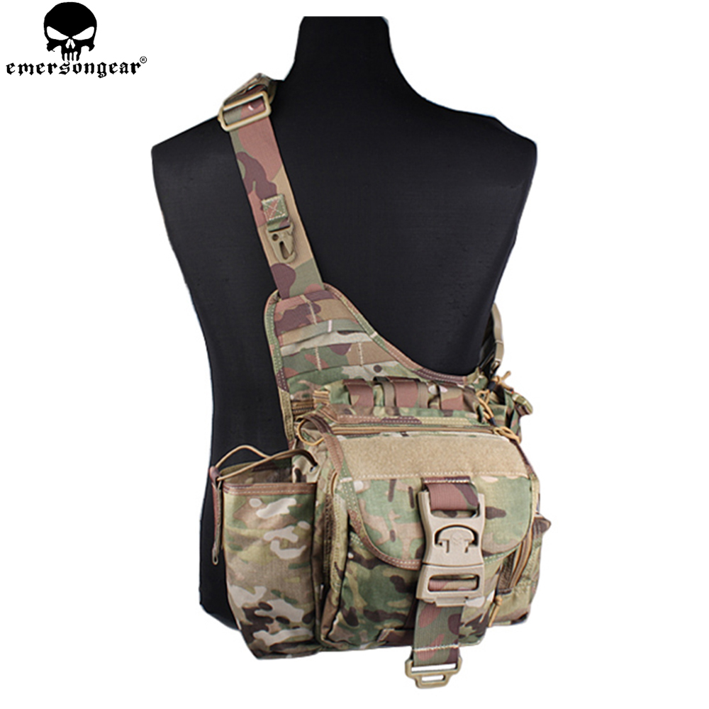EMERSONGEAR Jumbo Versipack Tactical Sling Pack  Recon Military Tactical Gear Bag  Multicam Black Khaki EM8345-in Climbing Bags from Sports & Entertainment    1