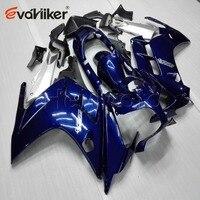 Custom Motorcycle cowl for FJR1300 2002 2003 2004 2005 2006 blue ABS plastic kit motor Fairing