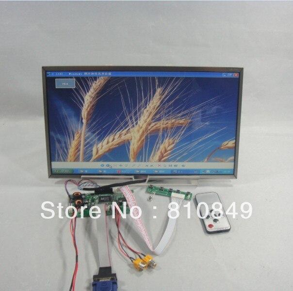 VGA+2AV+Audio+Reversing Lcd driver board+14inch HT140WXB 1366*768 Lcd Panel hdmi vga 2av control board 10 1inch lp101wh1 n101bge 1366 768 lcd touch panel