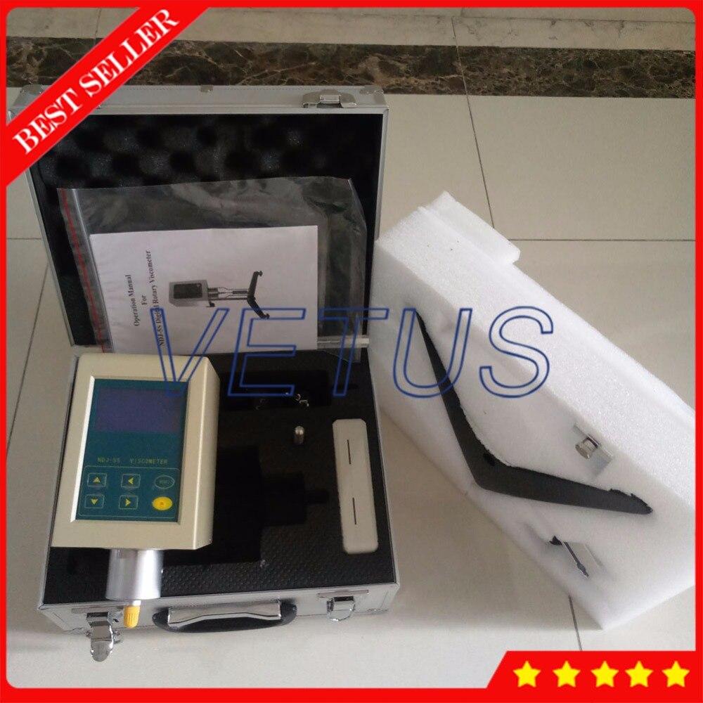 NDJ-5S Viscosity meter digital viscometer for test Grease paint Detergent oil digital viscometer ndj 1 viscometer paint viscosity tester rotary viscometer pointer viscometer