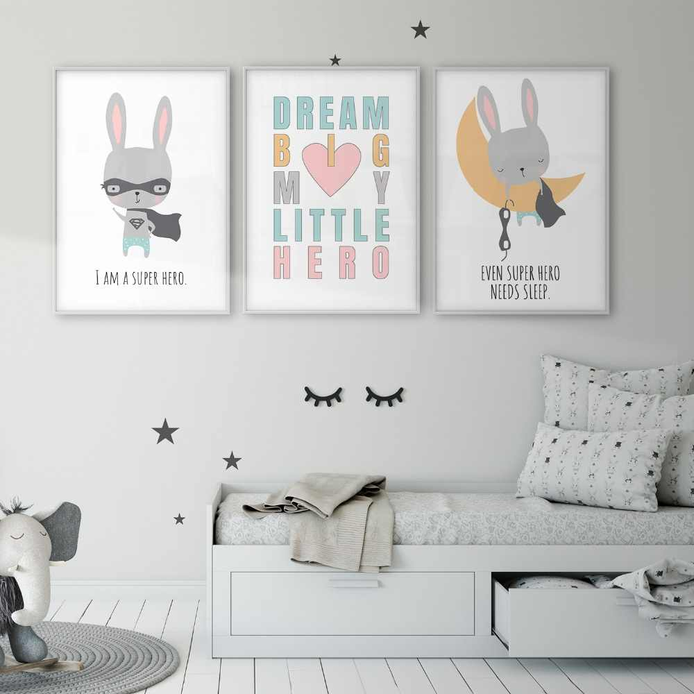 Super Hero Rabbit Bunny Baby Room
