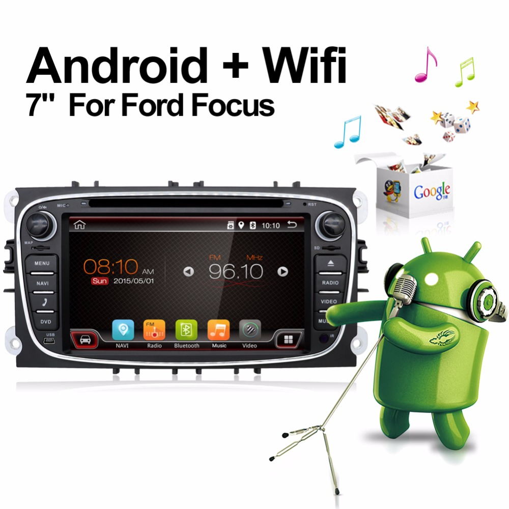 Black Two Din 7 Inch Car DVD Player For FORD Mondeo S MAX Connect FOCUS 2