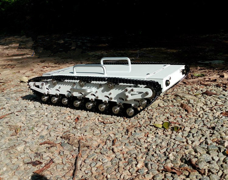 DOIT WT500 Big load robot tank car chassis with suspension large size chase shock aborption 20kg! Obstacle-surmounting Project big tank car chassis tracked car weight 8 5kg load carry more than 30kg obstacle surmounting robot parts for remote control