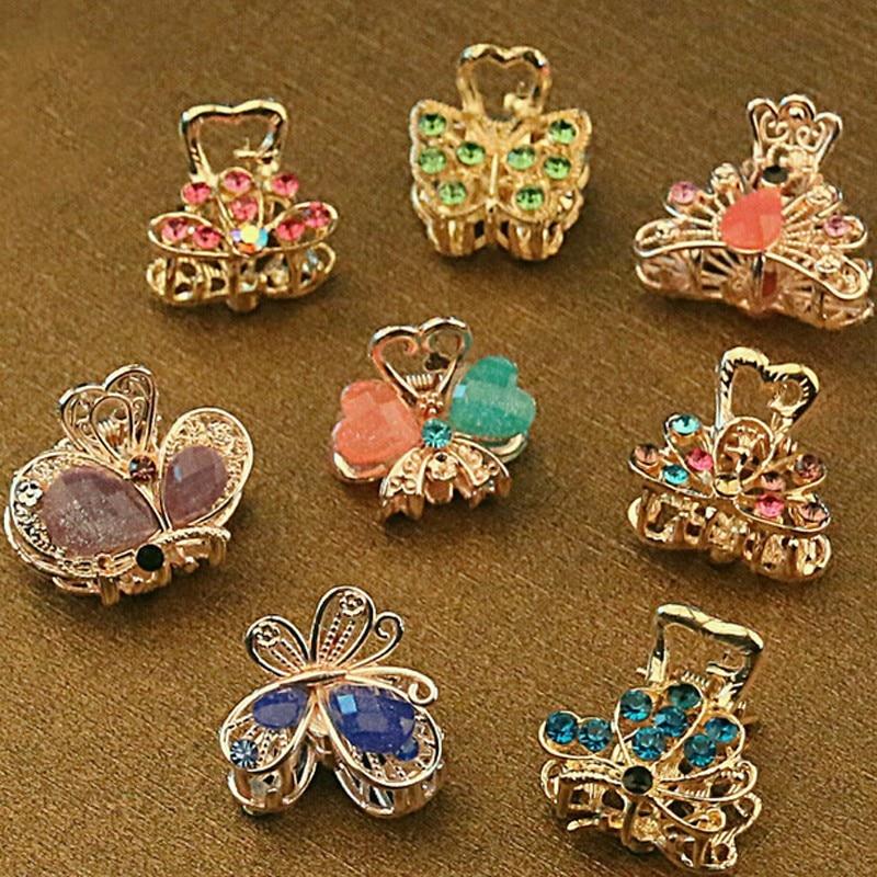 Unid piezas vintage metal mariposa pequeño mini pinza de pelo jpg 800x800 Ganchos  para el cabello c6bbd37ca274