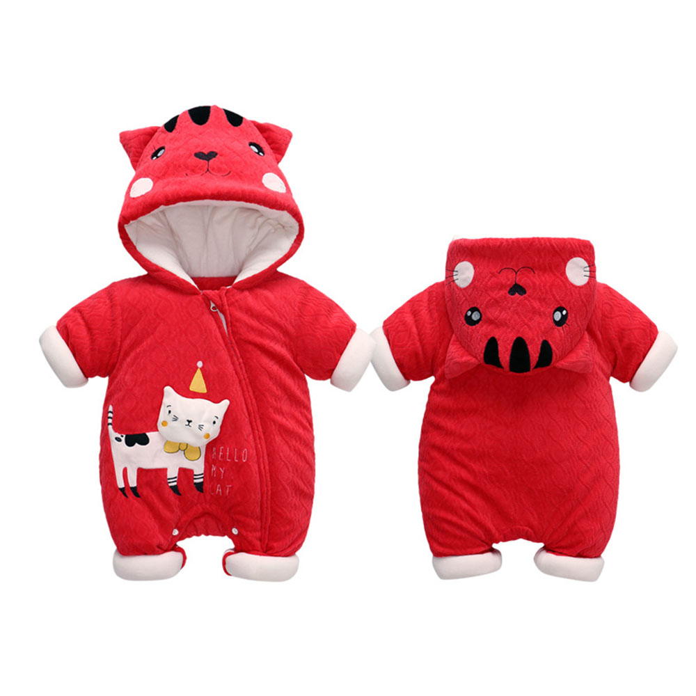 Winter Cute Cartoon Bear Flannel New Born Baby Clothes Romper Novelty Cotton Boy Girl Animal Rompers Stitch Baby's Sets