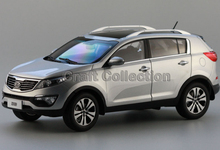 Kia Sportage R Siliver Alloy SUV Model  Diecast Cars 1:18 Toy Car Gifts Craft Miniature