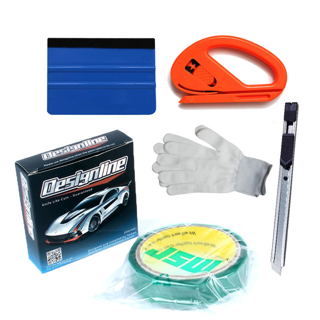 3.5mmx50m/Roll Knifeless Tape Design Line For Car Wrapping Graphics Vinyl Cut Design Knife Like Cuts + Squeegee + Cutter + Knife