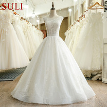 SuLi SL-228 O Neck Cap Sleeve Bridal Wedding Dresses 2017