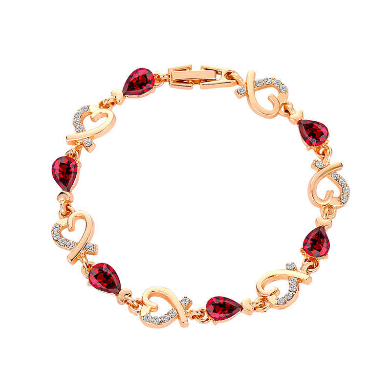 Fashion delicate rose flower bracelet red rope chain with small black balls bracelet women girls jewelry