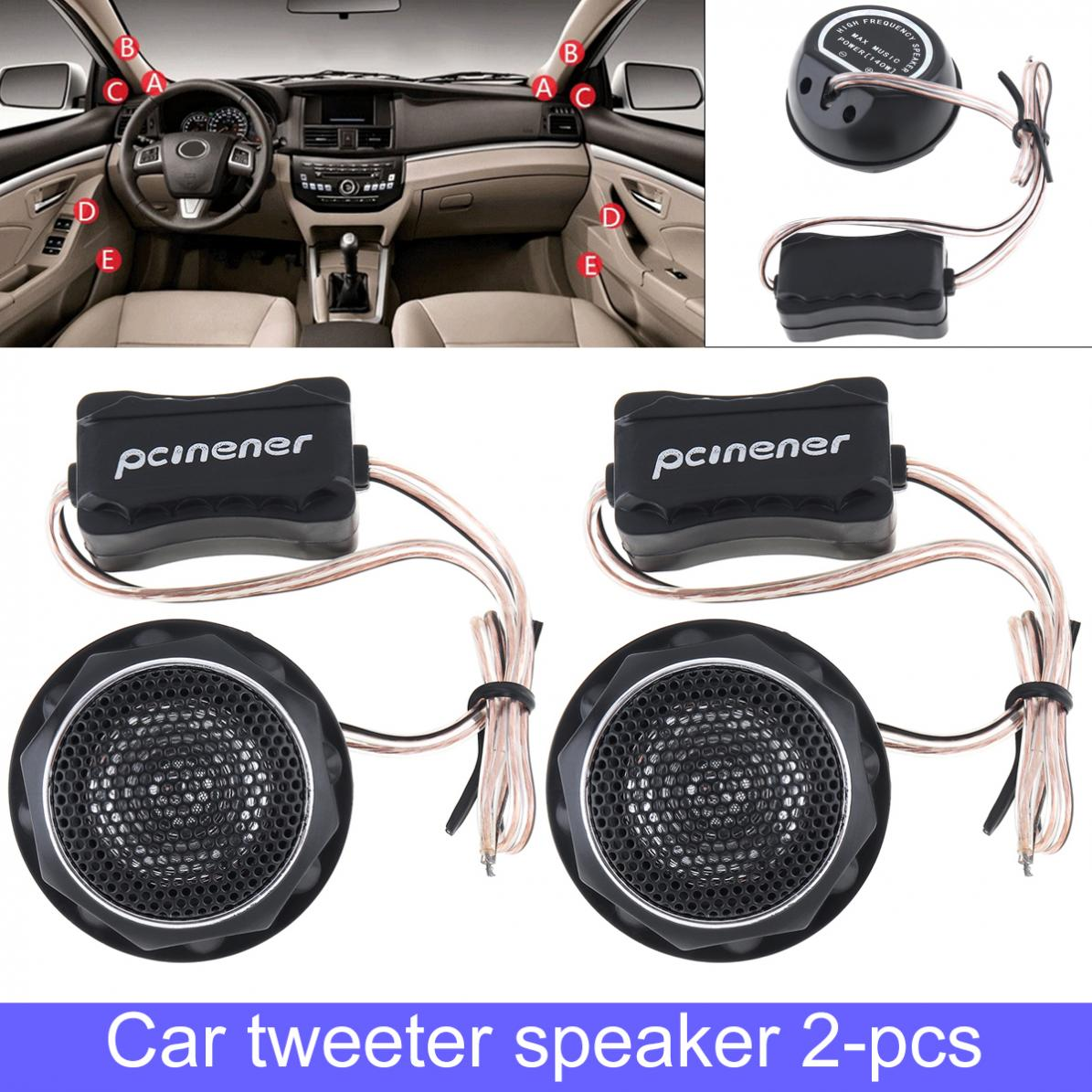Speakers Car Tweeter Car-Audio-System Dome Universal Mini 150W High-Efficiency 2pcs