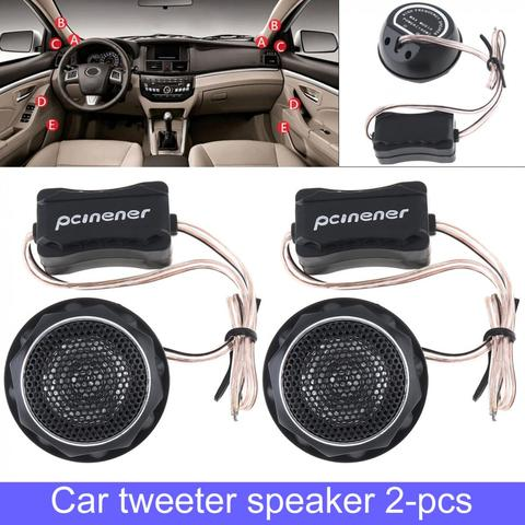 2pcs 150W Durable Universal  High Efficiency Mini Dome Car Tweeter Speakers for Car Audio System Pakistan
