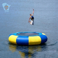 Dia 3m Steel Structure Inflatable Trampoline Air Bouncer Inflatable Bungee Trampolines Water Floating Trampoline